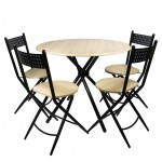 Set bucatarie de masa 4K cu 4 scaune
