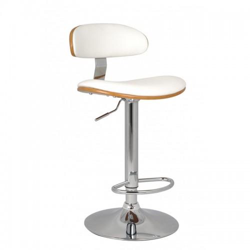 Scaun de bar design elegant si modern-Alb