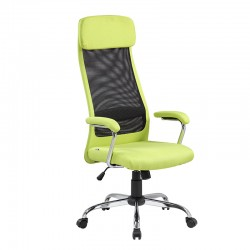 Scaun de birou tapiterie mesh-material textil-verde