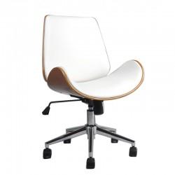 Scaun de birou elegant și solid-Alb