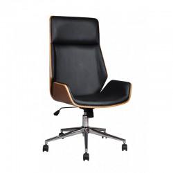 Scaun directorial de birou elegant și solid-Negru