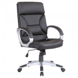 Scaun de birou tapitat cu piele ecologica-negru