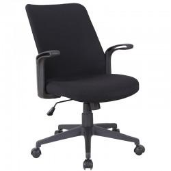 Scaun de birou tapitat cu material textil negru