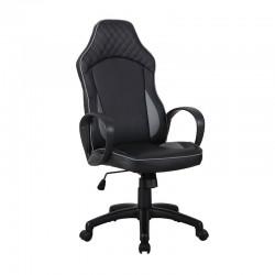 Scaun de birou tip gaming pe culoarea negru