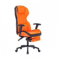 Scaun de birou cu suport picioare portocaliu