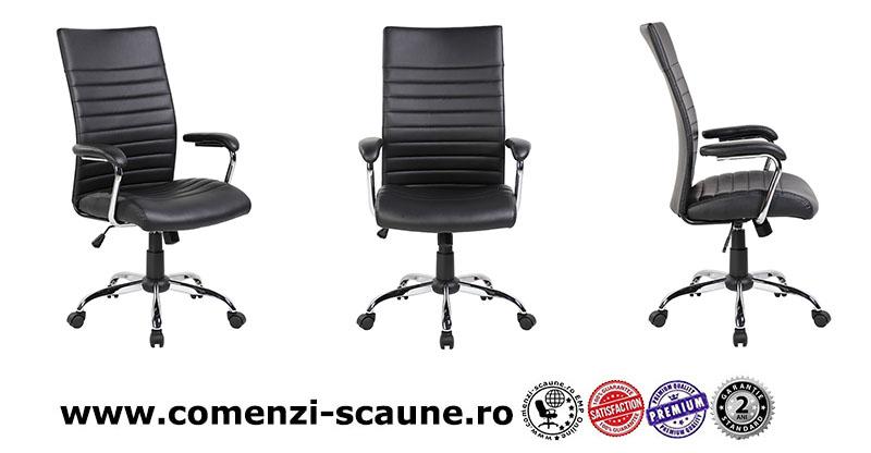scaun-de-birou-cu-sezut-si-spatar-din-piele-neagra
