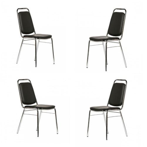 Set scaune de bucatarie cromate 4