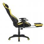 Scaune gaming negru cu galben-Transport Gratuit
