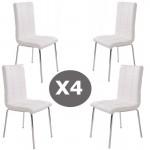 Set 4 scaune bucatarie CS230-alb