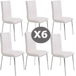 Set 6 scaune bucatarie CS230-alb