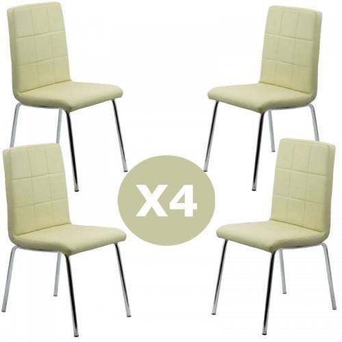 Set 4 scaune bucatarie CS230-crem