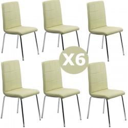 Set 6 scaune bucatarie CS230-crem