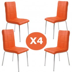 Set 4 scaune bucatarie CS230-portocaliu