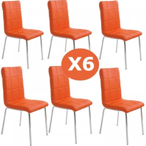 Set 6 scaune bucatarie CS230-portocaliu