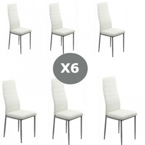 Set 6 scaune bucatarie-alb