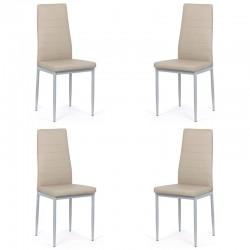 Set 4 scaune bucatarie-bej