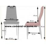 Set 6 scaune bucatarie-negru