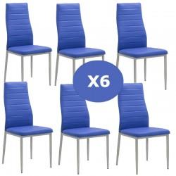 Set 6 scaune bucatarie-bleu