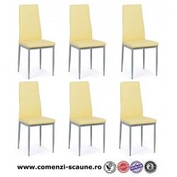 Set 6 scaune bucatarie-crem