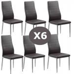 Set 6 scaune bucatarie-maro