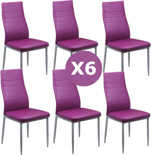 Set 6 scaune bucatarie-mov