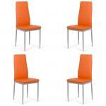 Set 4 scaune bucatarie-portocaliu