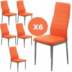 Set 6 scaune bucatarie-portocaliu