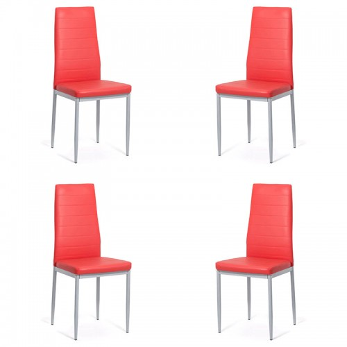 Set 4 scaune bucatarie-rosu