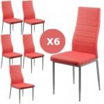 Set 6 scaune bucatarie-rosu