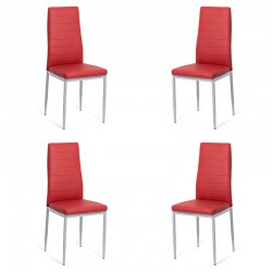 Set 4 scaune bucatarie-visiniu