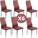 Set 6 scaune bucatarie-visiniu