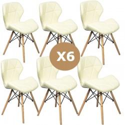 Set 6 scaune de bucatarie-AL-B