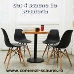 Set 4 scaune de bucatarie-negru