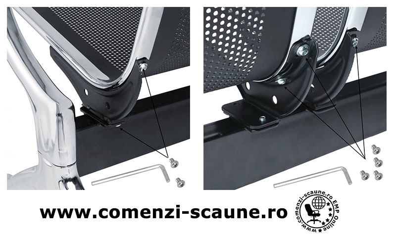montaj-si-prezentare-banci-metalice-cu-3-locuri-suruburi-scaune