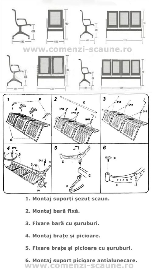 schita-montaj-asamblare-banca-metalica-3-scaune