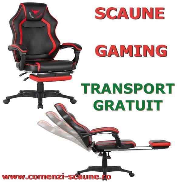 Scaun-gaming-90R-rosu-negru