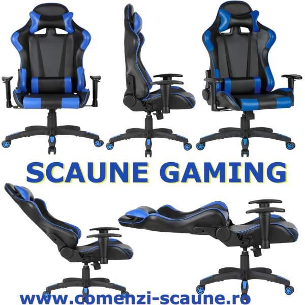 Scaun-gaming-90S-negru-albastru