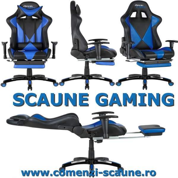 Scaun-gaming-90SU-albastru-negru