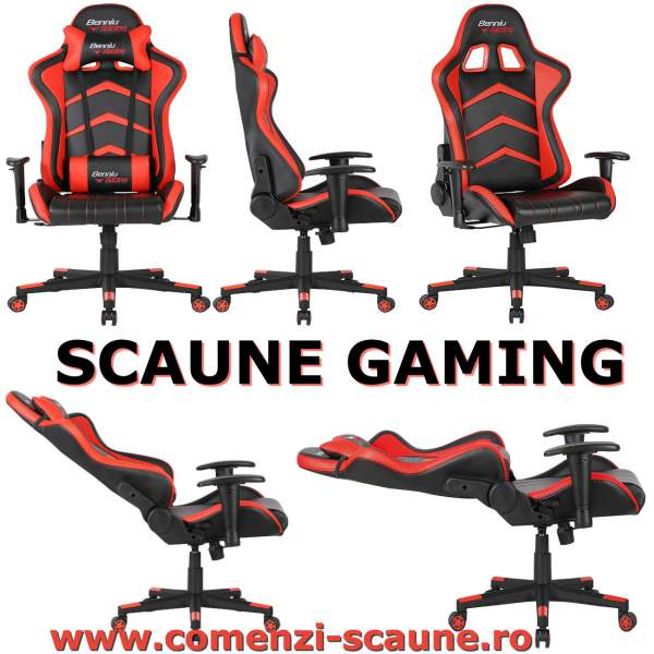 Scaun-gaming-90-rosu-negru