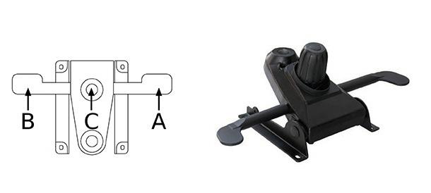 Mecanism Multibloc pentru scaunele de birou ergonomice de tip managerial-directorial