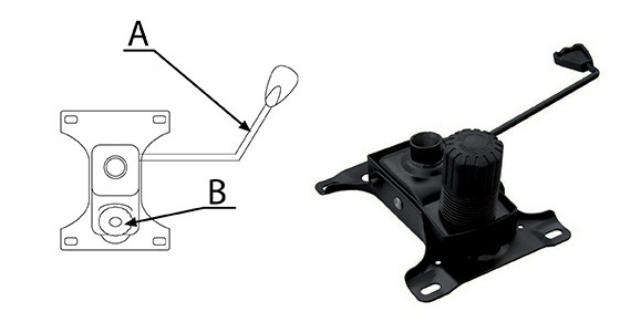 Mecanism oscilant pentru scaunele ergonomice de tip directorial