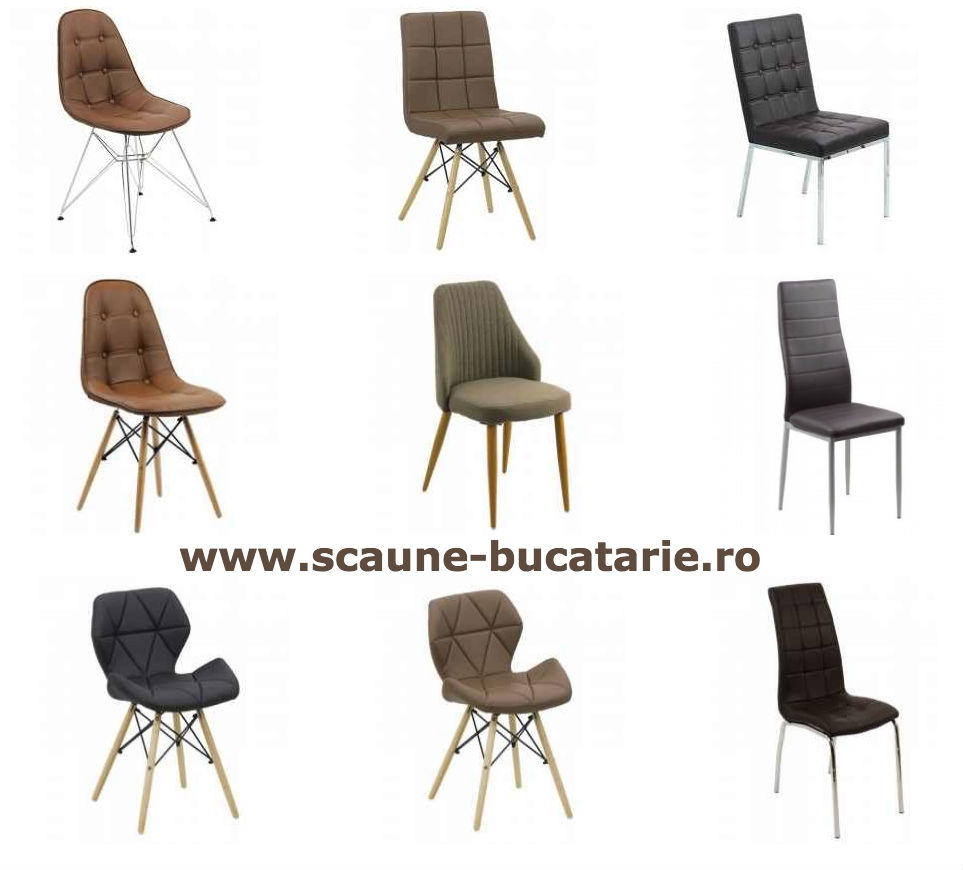 Scaune de bucatarie-shop online-scaun maro-negru
