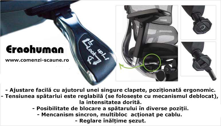 Scaune ergonomice profesionale Ergohuman mecanism