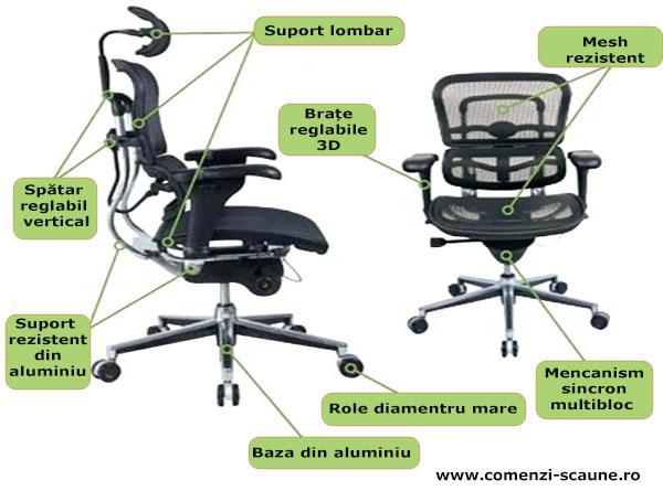 Scaune ergonomice profesionale Ergohuman reglage