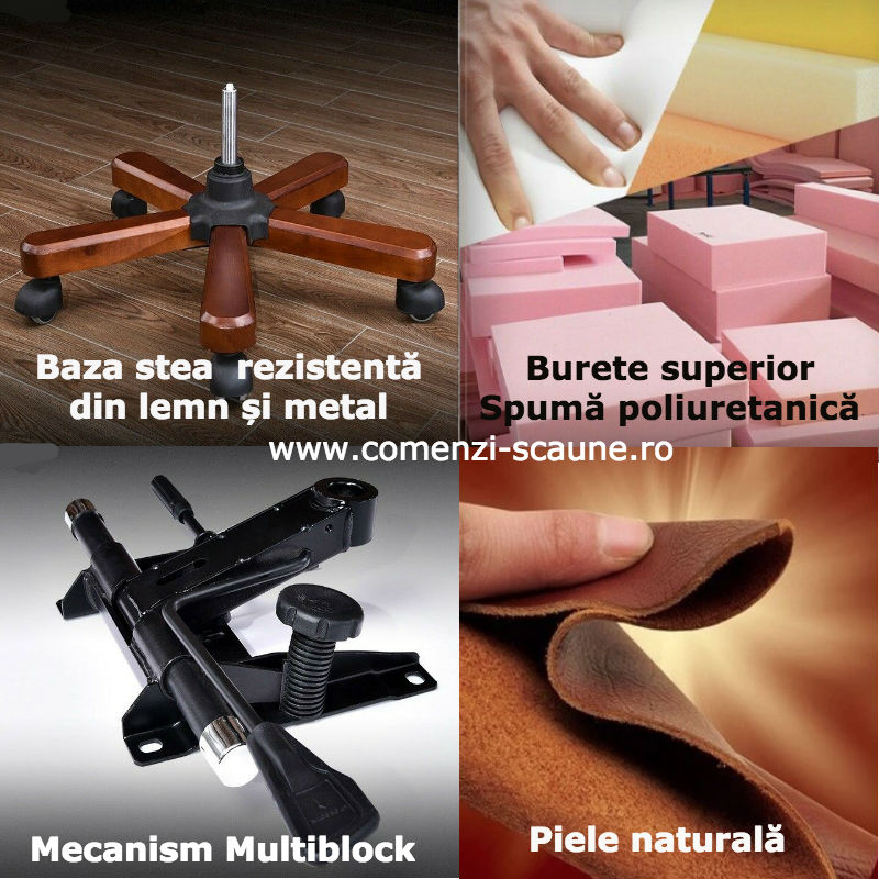 Scaune directoriale-manage din piele naturală si burete special