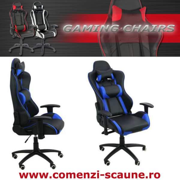 Scaune-gaming-albastru