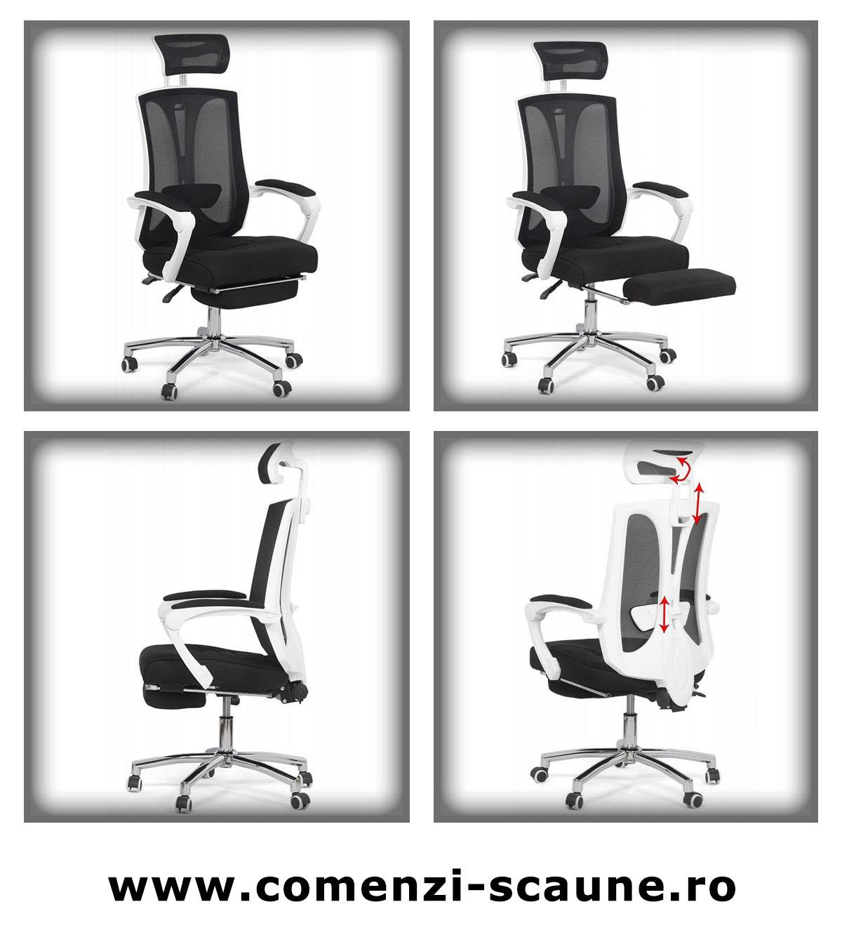 Scaune de birou ergonomic cu suport pentru picioare Office 420