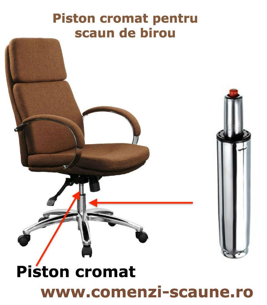 Schimbare piston pe gaz pentru scaun de birou-cromat