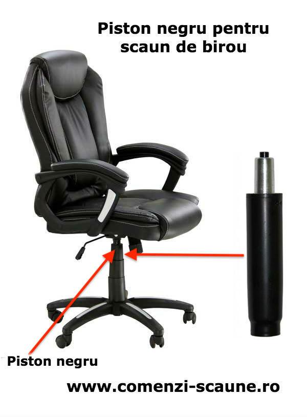 Schimbare piston pe gaz pentru scaun de birou-piston negru
