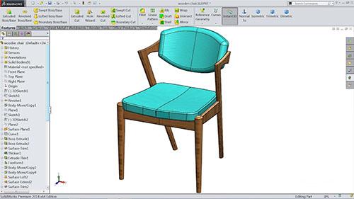 SolidWorks - Software design pentru scaune și mobilier